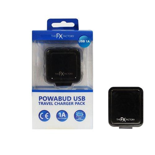 FX FACTORY Chargeur Secteur USB pour iPhone, iPad, Blackberry, HTC, Kindle, Tom Tom, Navman