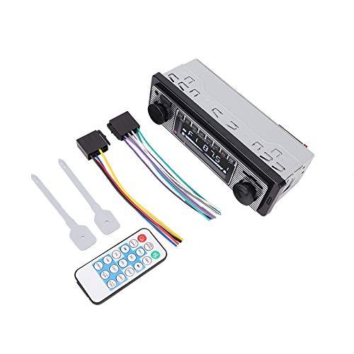 Suuonee Auto-MP3-ontvanger, 12 V, 1 DIN Bluetooth, stereo, audio, USB, SD, MP3, audio-ontvanger AUX