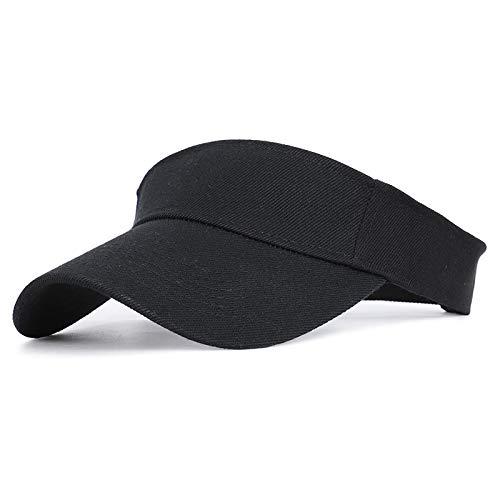N\A Deportes de primavera y verano sombrero de sol hombres y mujeres ajustable algodón visera UV protección superior vacío tenis Golf Correr sombrero sol