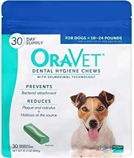 Oravet Dental Hygiene Chews for Small Dogs 10-24 lbs