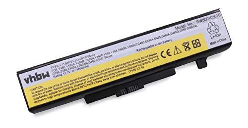 vhbw Batterie LI-ION 4400mAh 11.1V en Noir pour IBM Lenovo IdeaPad B480, remplace 45N1042, 45N1043, 45N1048, 45N1049, L11L6F01, L11L6R01, L11L6Y01