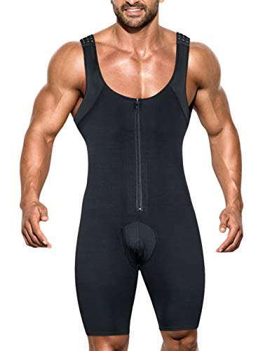 NonEcho Men Shapewear Tummy Control Full Body Shaper Slimming Bodysuit Plus Size