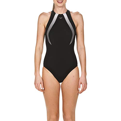 ARENA Bodylift Therese Squared Back Bañador, Mujer, Negro/Blanco, 42