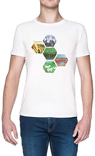 Ingénieux Blanc Homme T-Shirt White Men's Tee
