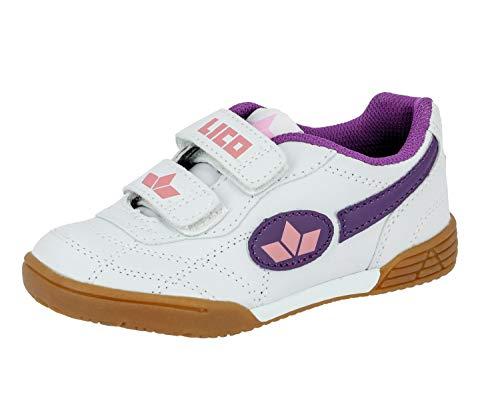 Lico Bernie V Mädchen Multisport Indoor Schuhe, Weiß/ Lila/ Rosa, 31 EU