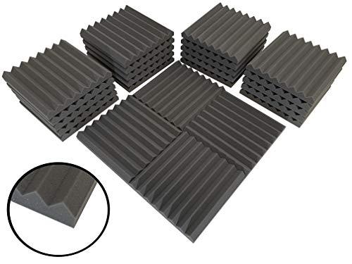 Lote de 24 planchas de espuma acústica (305 mm, 0,60 NRC)
