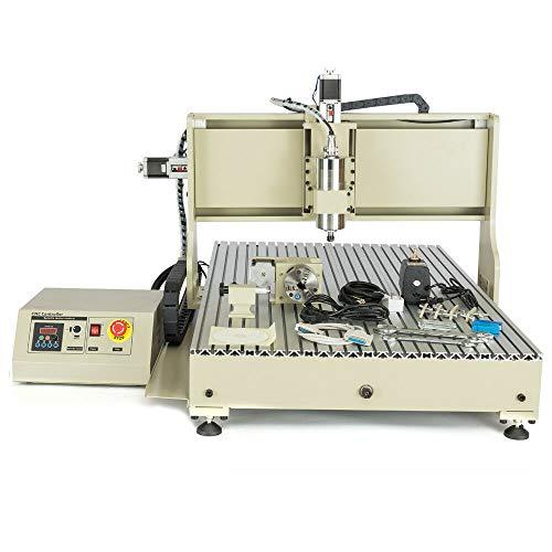 Graviermaschine CNC Router 4 Achsen 6090 Fräsmaschine Brenner 2200 W Gravur + RC mit USB Port