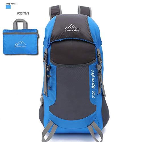 Backpack Sac à Dos de randonnée 40L, Sac à Dos de Voyage léger pour Le Trekking, matériau imperméable, pour Le Cyclisme/Escalade/Sports/Camping en Plein air,Blue