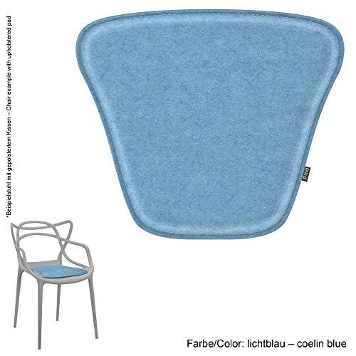 Feltd. Eco Filz Kissen geeignet für Kartell Masters - 29 Farben - optional inkl. Antirutsch und gepolstert (lichtblau)