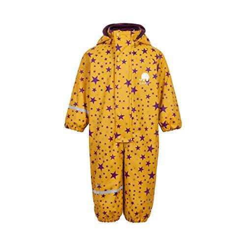 CeLaVi Mädchen Regenanzug mit Fleecefutter Wasserdicht 5.000 mm (80, Mineral Yellow)