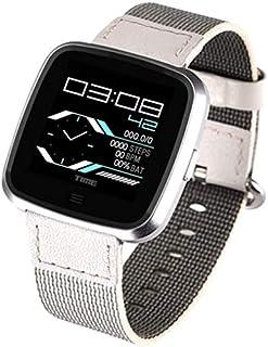 Pulsómetro recordatorio Reloj/Llamada Inteligente G12 Reloj Correa Desmontable con Grado de protección IP67 Bluetooth Reloj Puede ser Usado underwatersteel (Color : Silvergray)