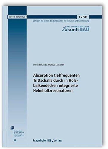 Absorption tieffrequenten Trittschalls durch in Holzbalkendecken integrierte Helmholtzresonatoren. Abschlussbericht. (Forschungsinitiative Zukunft Bau)