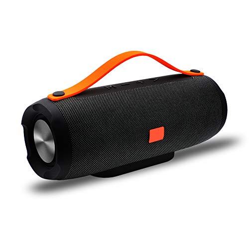WETERS Altavoz Bluetooth estéreo portátil, Altavoz inalámbrico Bluetooth Grande de la energía 10W Sistema TF FM Radio Música Subwoofer Altavoces Columna de Ordenador,Negro
