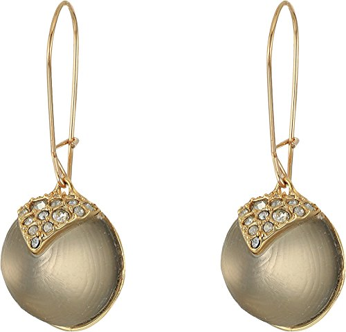 Alexis Bittar Girl's Crystal Encrusted Origami Inlay Dangling Sphere Kidney Wire Earrings Grey One Size