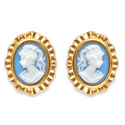 Ohrringe Kamé blau vergoldet 18 Karat – Damen