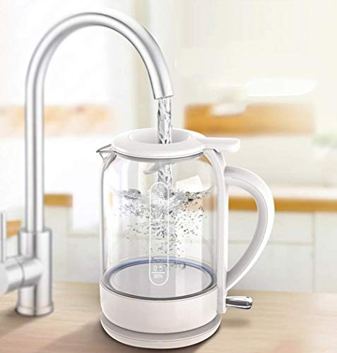 l.e.i. 1.5L Glass Electric Kettle,1800W Eco Water Kettle with Illuminated LEDs,Bpa-Free Battery-Free Water Kettle with Stainless Steel Inner Lid and Bottom,Quick Auto Shut Off and Dry Boil Protecti