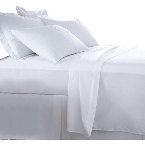 Burrito Blanco Sábanas de Hostelería | Sábana 105 | Cama Individual | Ropa de Cama Algodón/Poliéster | Fácil Planchado | Color Blanco | Disponible en Más Medidas