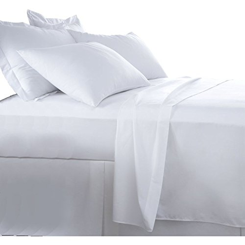 Burrito Blanco Sábanas de Hostelería   Sábana 105   Cama Individual   Ropa de Cama Algodón/Poliéster   Fácil Planchado   Color Blanco   Disponible en Más Medidas