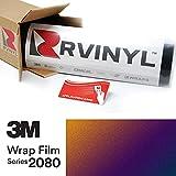 3M 2080 GP278 Gloss FLIP DEEP Space 5ft x 2ft W/Application Card Vinyl Vehicle Car Wrap Film Sheet Roll