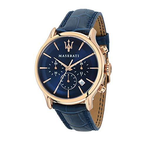 Reloj para Hombre, Colección Epoca, Movimiento de Cuarzo, cronógrafo, en Acero, PVD Oro Rosa y Cuero - R8871618007