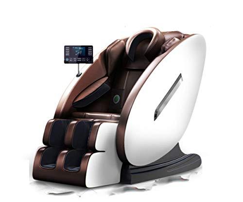 TXX Sillon de Masage Sofá Casa Comercial Multifunción Audio de Alta Fidelidad Gran Pantalla Lcd Automático Amasadura Shiatsu Marrón/A/Load bearing100kg