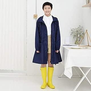 BEESCLOVER Women Raincoat 100% Polyester Wind Rainware Ladies Rain Coat Waterproof Windbreaker Style Drawstring Capa De Chuva Navy One Size