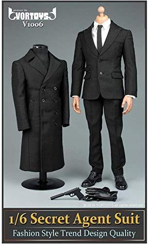 ZSMD 1/6 VORTOYS V1006 Agent Anzug Mantel Set James Bond 007 Für HT VERYCOOL TTL Hottoy Phicen