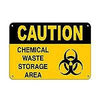 Caution Chemical Waste Storage Area 金属板ブリキ看板警告サイン注意サイン表示パネル情報サイン金属安全サイン