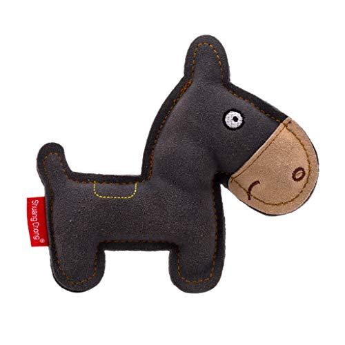 RK-HYTQWR Cartoon Leder Hundespielzeug Kauen Training Zahnresistent Sound Spielzeug für Hunde Welpen, Hund Rindsleder Sounding Toy, Grau