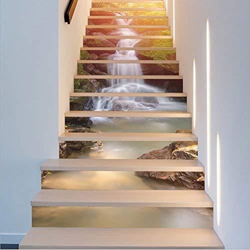 Amazon Com Fuloon Waterfall 3d Stair Sticker Diy Steps Sticker Wall