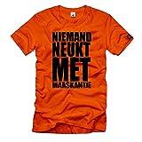 Camiseta de manga corta con texto en holandés 'Niemand neukt met Maaskantje Kids película Holanda # 37697, naranja, M
