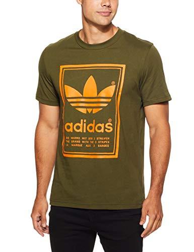 adidas Vintage–Camiseta de, Hombre, DJ2718, Night Cargo, Small