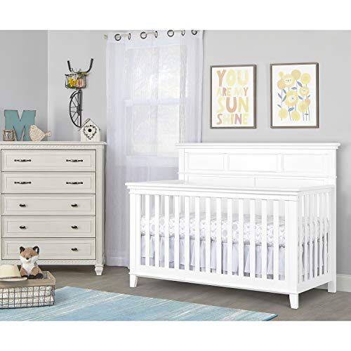 Sweetpea Baby Dover 4-in-1 Convertible Crib - White