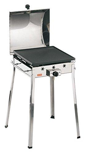 Ferraboli Ghisa Gas Mono Inox Barbecue Carrello Gas 3000W Acciaio inossidabile