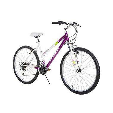 Dynacraft Speed Alpine Eagle Womens Road/Mountain 21 Speed Bike 26 , Purple/White/Green