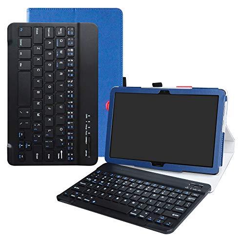 Acer Iconia One 10 B3-A50 Bluetooth Teclado Funda,LFDZ [Detachable] Bluetooth Teclado Ultra Slim PU Cuero con Soporte Caso Case Funda para 10.1