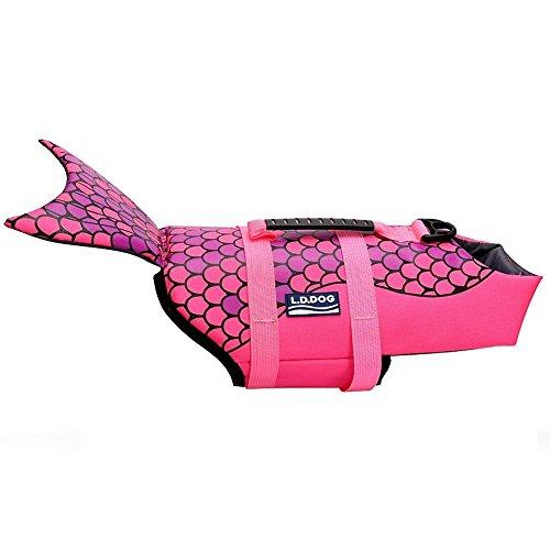 WOpet Dog Life Jacket Size Adjustable Dog Lifesaver Safety Vest (S, Pink)