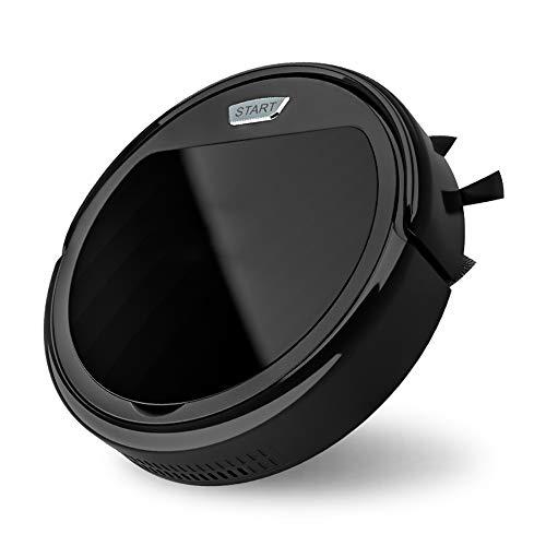 MKIU Automatique des ménages Ultra-Mince Robot Intelligent Balayer, Trois-in-One Mop Aspirateur, à Faible Bruit, Rapide dépoussiérant, Convient à Tous Types de Sol,Noir,Standard Version