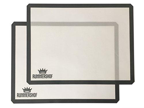 Rummershof Lámina de horno (2 esterillas): Papel de horno de silicona reutilizable (30 x 40 cm)
