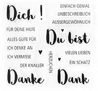 ドイツの透明な透明なシリコンスタンプ/DIYスクラップブッキング/フォトアルバム用のシール装飾的な透明なスタンプシートA1794