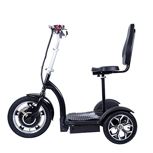 City Hopper 3-Wheel Electric Scooter with 16-inch Front Wheel, 500W Brushless Motor and 48V – 12AH Battery