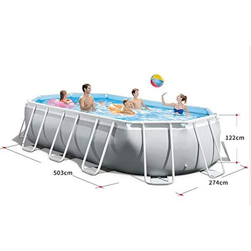 N/A Aufblasbare Schwimmbecken mit Pumpe, Sommer-Party-Familie Wasser Spiele Multi-Layer-aufblasbares Pool for Alter 3+ Kinder und Erwachsene