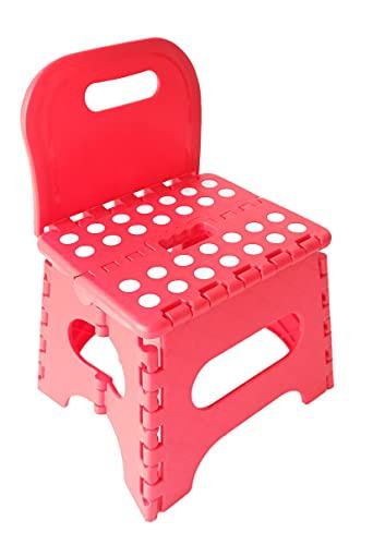 TETI`S Ducks Home - Silla Infantil Ideal para los pequeños - Taburete Infantil PVC Plegable con Respaldo, escalón,...