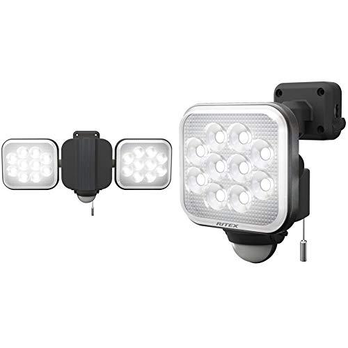 【セット買い】ムサシ RITEX フリーアーム式LEDセンサーライト(12W×2灯) 「コンセント式」 防雨型 LED-AC2024 & RITEX フリーアーム式LEDセンサーライト(12W×1灯) 「コンセント式」 防雨型 LED-AC1012