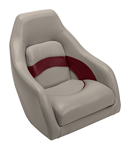 Wise Premier Series Pontoon Captains Bucket Seat, Mocha Java/Mocha Java Punch/Dark Red/Rock Salt