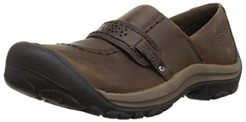 KEEN Women's Kaci Full Grain Slip On Casual Shoe, Cascade Brown, 7 M US