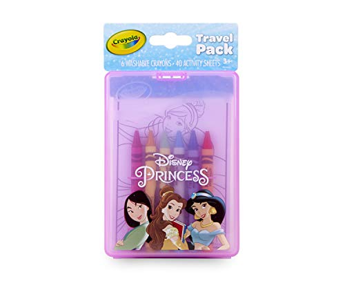 Crayola Princess Coloring Kit, Travel Activity, Gift for Kids, Ages 3, 4, 5, 6