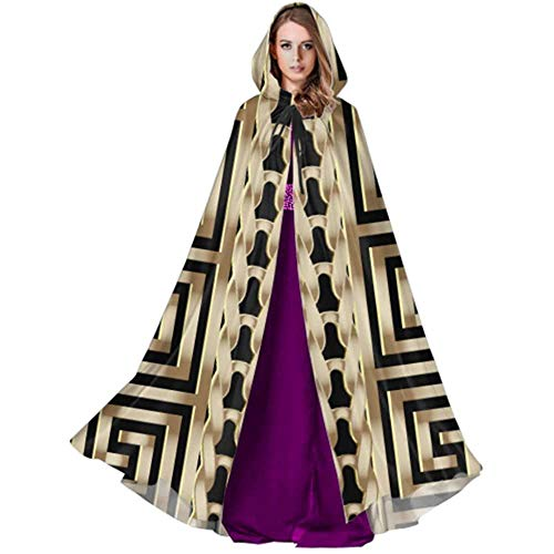 Zome Lag Devil Witch Wizard Cloak,Cloak With Hood,Halloween Cosplay Costume,Party Wizard Cape,Abstract Manders Ornament Adults Cloak Cape Hooded Cloak Coat