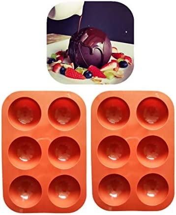 Small 1 95 inch Shiny Thick 6 Small Half Circle Holes Silicone Molds For Baking Chocolate dessert product image
