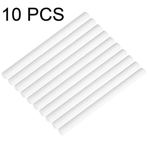 10 Pack 8 x 123mm Filter Cotton Sticks Schwamm Sticks Refill Ersatz Dochte für Mini Portable Personal USB Luftbefeuchter und Mini Diffusoren